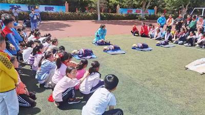 海丽安全培训进校园——城阳区第三实验小学安全应急体验活动